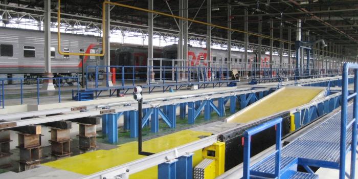 """Reconstrucción del depósito de reparación y equipamiento """"Moscú-Kievskaya"""""""
