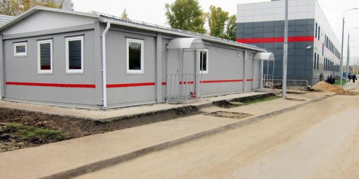 Punto de descanso y equipamiento de trenes eléctricos, punto de reunión y descanso de las brigadas de locomotoras en la estación Likhobory  Circular Central Ferroviaria de Moscú