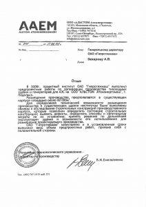 """Отзыв ООО """"АЛЬСТОМ Атомэнергомаш"""""""
