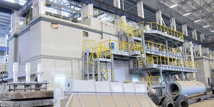 Встроенные печные помещения на Бежицком сталелитейном заводе